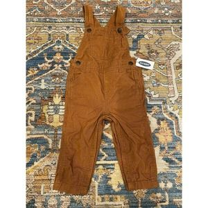 Old Navy Baby Boys 12-18 corduroy Overalls Brown